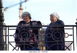 old women on bridge